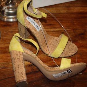 bd980c2287a Steve Madden Shoes - Steve Madden Carson c yellow cork heel